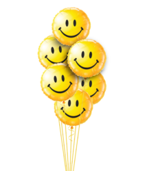 Smiling Faces Just For Fun Balloon Bouquet