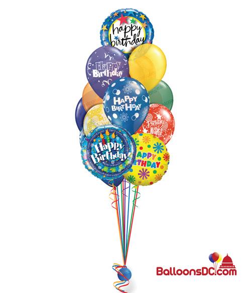 Prismatic Balloon Bouquet